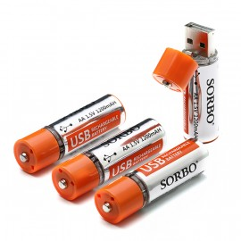 SORBO USB Rechargeable AA Li-po Battery