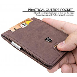 TRAVANDO Mens AUSTIN Slim Wallet