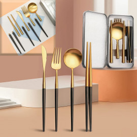 WiTisve Camping Travel Cutlery Set